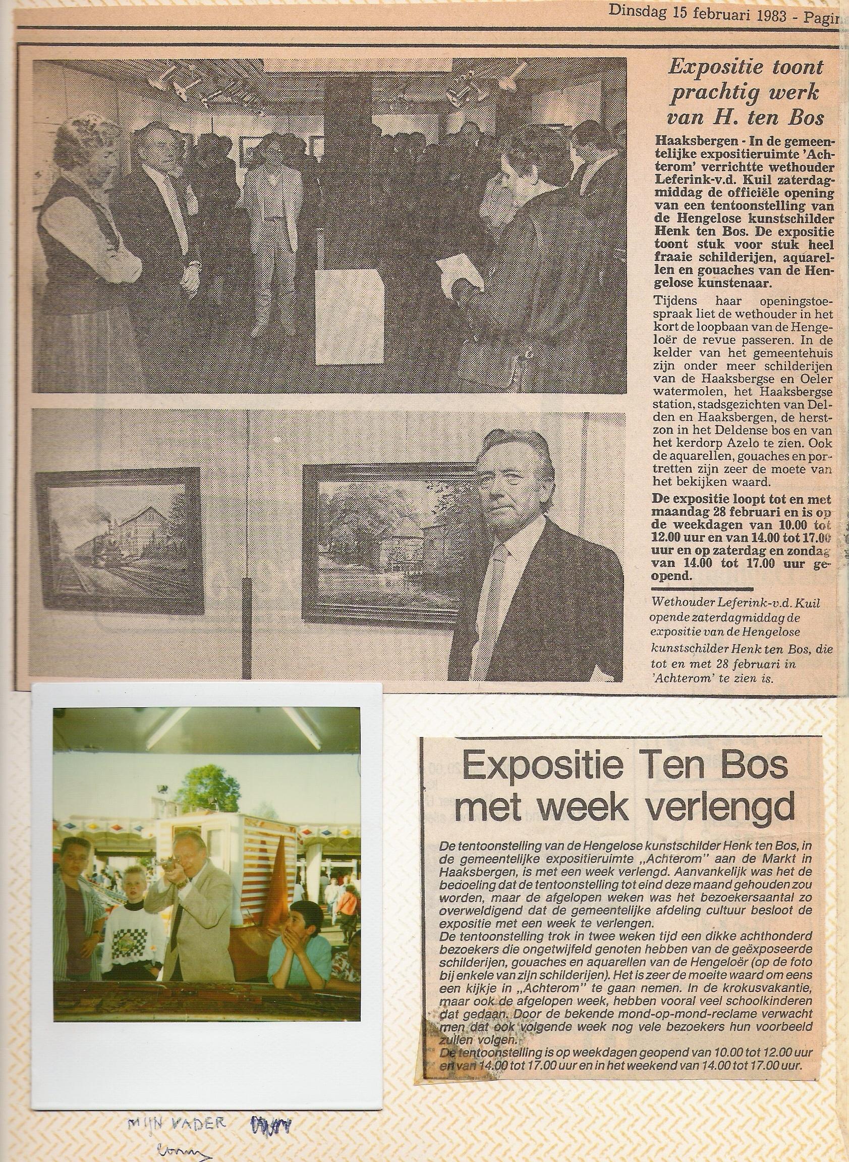 Expositie Haaksbergen 1983